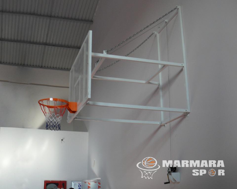 Akrilik Cam Panyalı Yükseklik Ayarlı Basketbol Potası